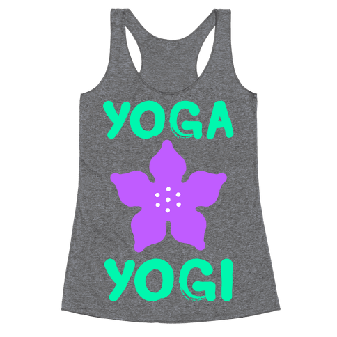 Yoga Into A Yogi Racerback Tank Top
