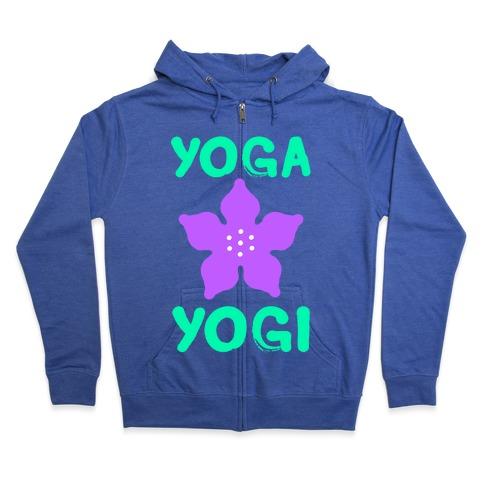 Yoga Into A Yogi Zip Hoodie