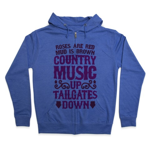 Country Music Up, Tailgates Down Zip Hoodie