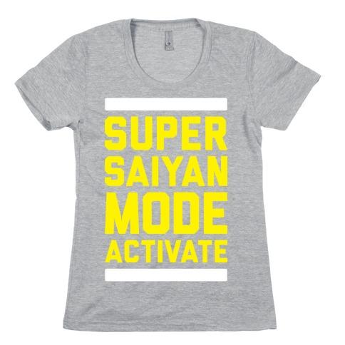 Super Saiyan Mode Activate Womens T-Shirt
