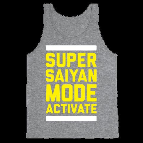 Super Saiyan Mode Activate Tank Top