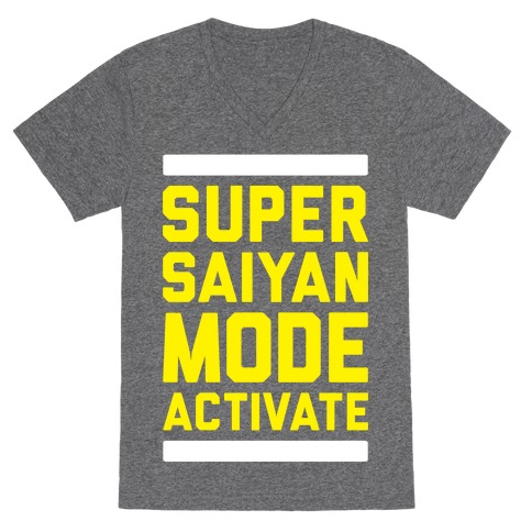 Super Saiyan Mode Activate V-Neck Tee Shirt