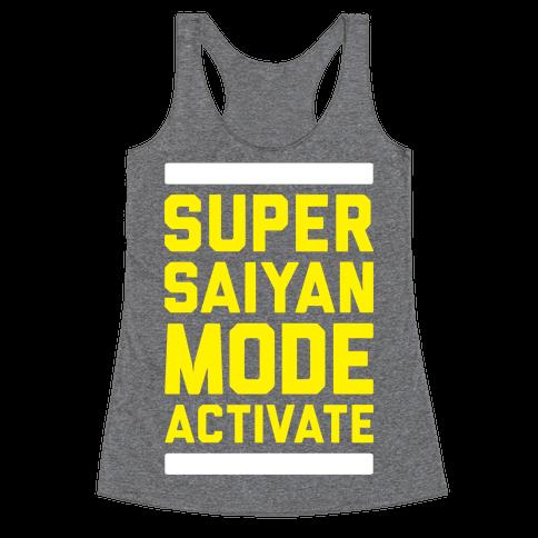 Super Saiyan Mode Activate Racerback Tank Top