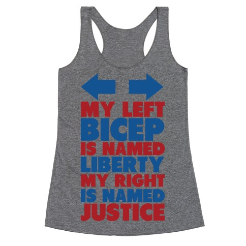 Liberty and Justice Racerback Tank Top