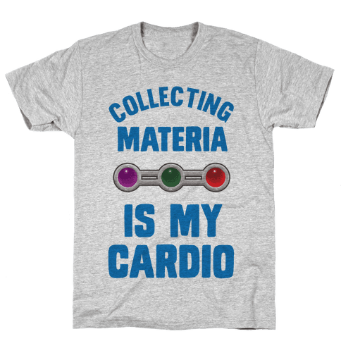 Collecting Materia Is My Cardio Mens T-Shirt