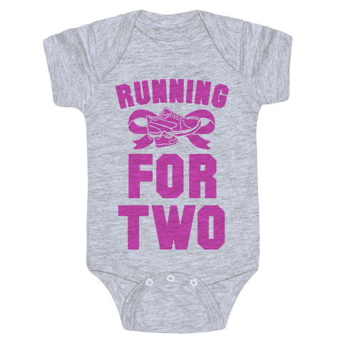 Running for Two Baby Onesy