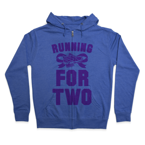 Running for Two Zip Hoodie