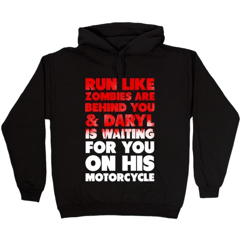 Run Like Daryl is Waiting Hooded Sweatshirt
