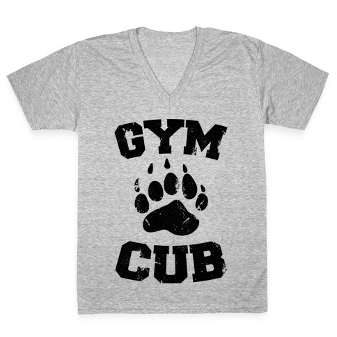 Gym Cub V-Neck Tee Shirt