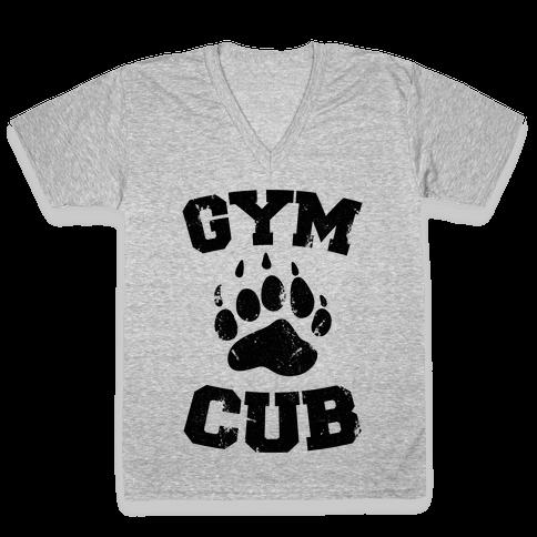 Gym Cub V-Neck Tee Shirt