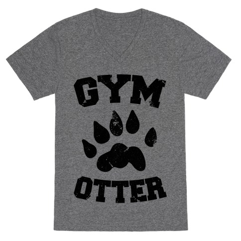 Gym Otter V-Neck Tee Shirt