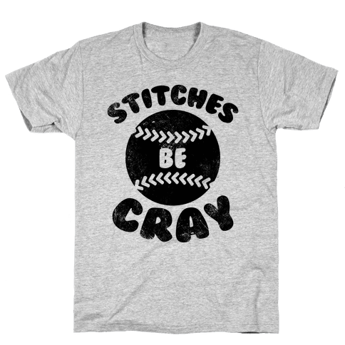 Stitches Be Cray (Vintage) Mens T-Shirt