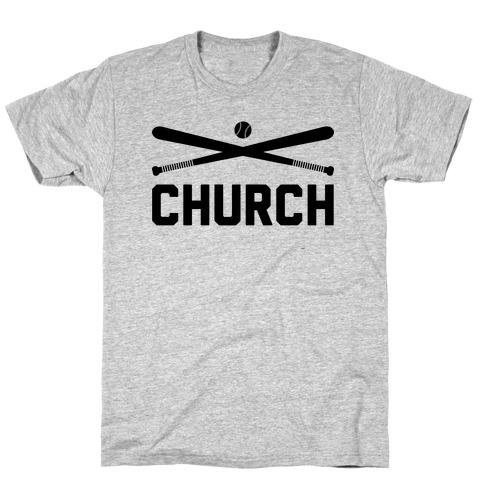 Baseball Church Mens T-Shirt