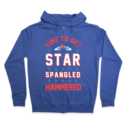 Star Spangled Hammered Zip Hoodie