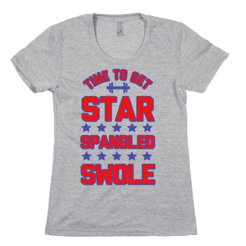 Star Spangled Swole Womens T-Shirt