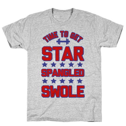 Star Spangled Swole Mens T-Shirt