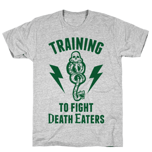 Training To Fight Death Eaters Mens T-Shirt