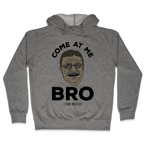 Come At Me Bro - Teddy Roosevelt Hooded Sweatshirt
