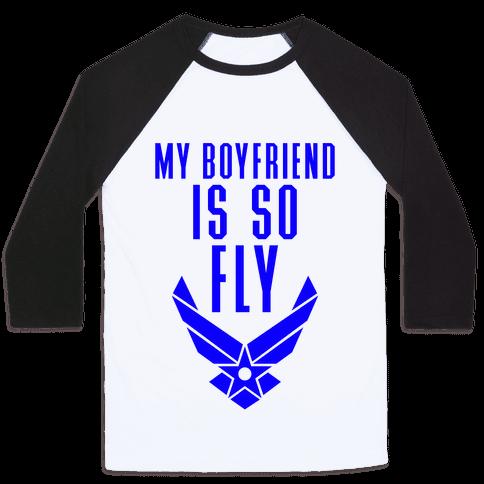 My Boyfriend Is So Fly (Air Force Tank) Baseball Tee