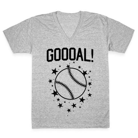 GOOOAL! V-Neck Tee Shirt