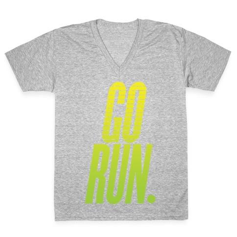 Go Run V-Neck Tee Shirt
