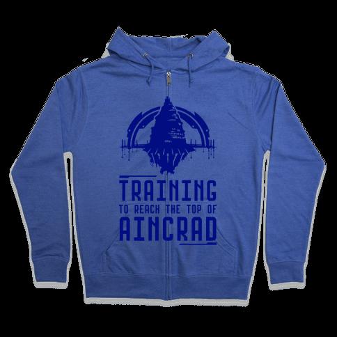 Training to Reach the Top of Aincrad Zip Hoodie