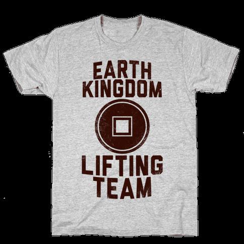 Earth Kingdom Lifting Team Mens T-Shirt