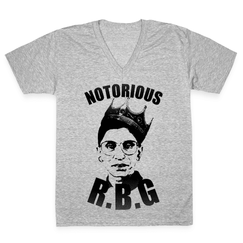 Notorious R.B.G. V-Neck Tee Shirt