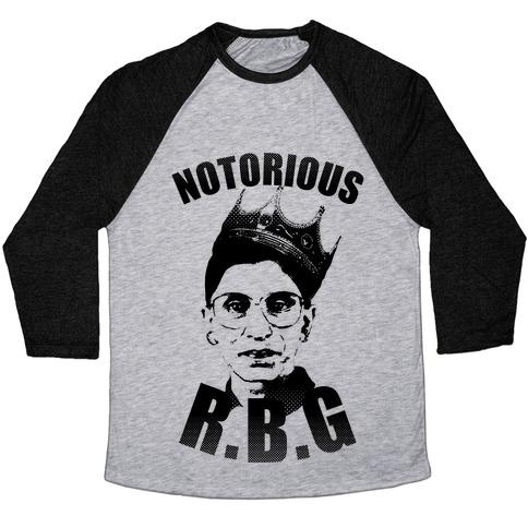 notorious r b g baseball tee merica made