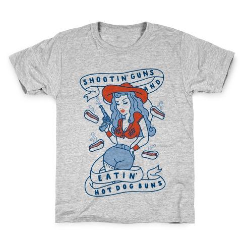 Buns And Guns Kids T-Shirt