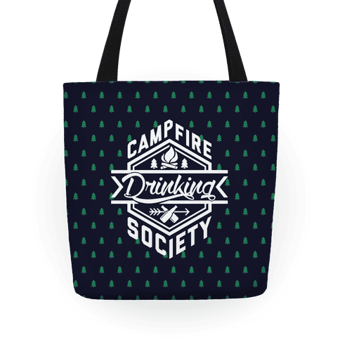 Campfire Drinking Society Tote