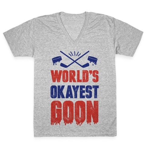 World's Okayest Goon V-Neck Tee Shirt