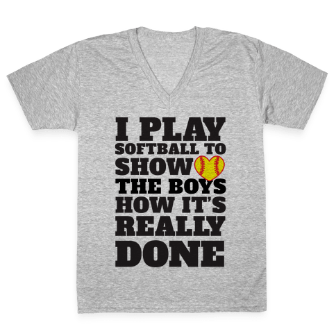 Show The Boys V-Neck Tee Shirt