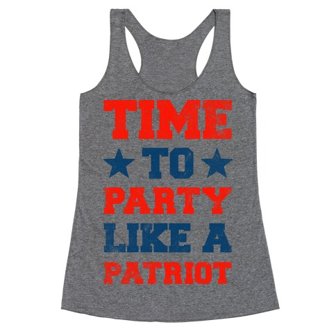 Party Like a Patriot Racerback Tank Top