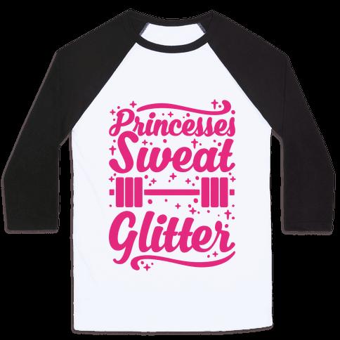 Princesses Sweat Glitter Baseball Tee