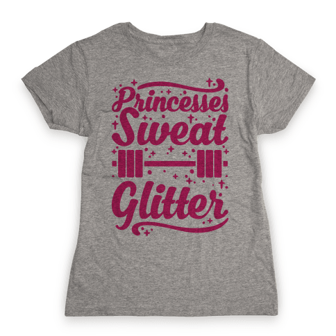 Princesses Sweat Glitter Womens T-Shirt