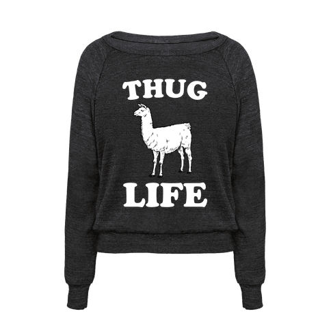 human thug life llama clothing pullover. Black Bedroom Furniture Sets. Home Design Ideas