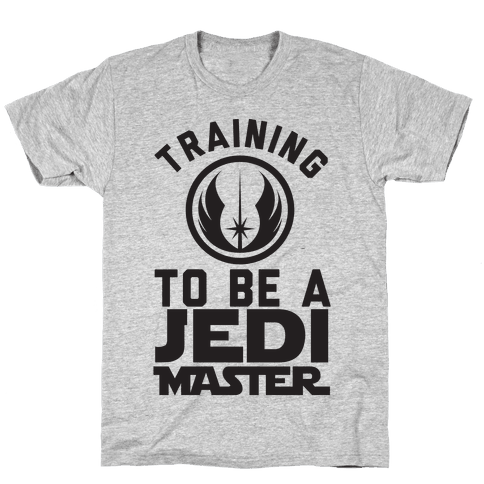 Training To Be A Jedi Master Mens T-Shirt
