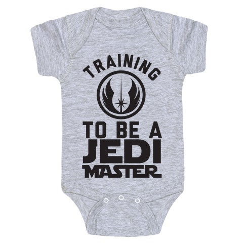 Training To Be A Jedi Master Baby Onesy