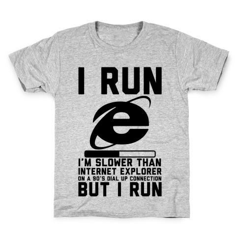 Slower than Internet Explorer Kids T-Shirt