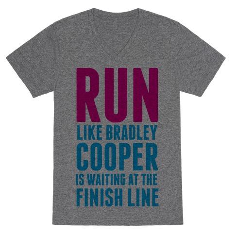 Run Like Bradley Cooper V-Neck Tee Shirt