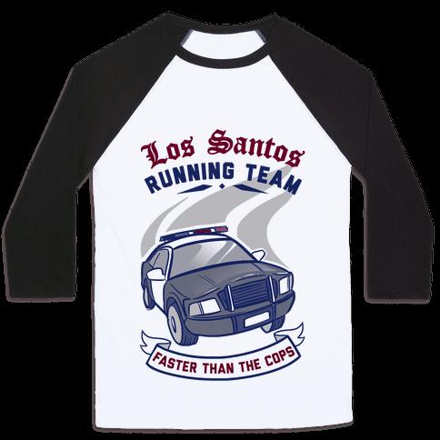 Los Santos Running Team Baseball Tee