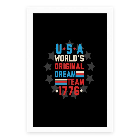 USA World's Original Dream Team 1776 Poster | Merica Made