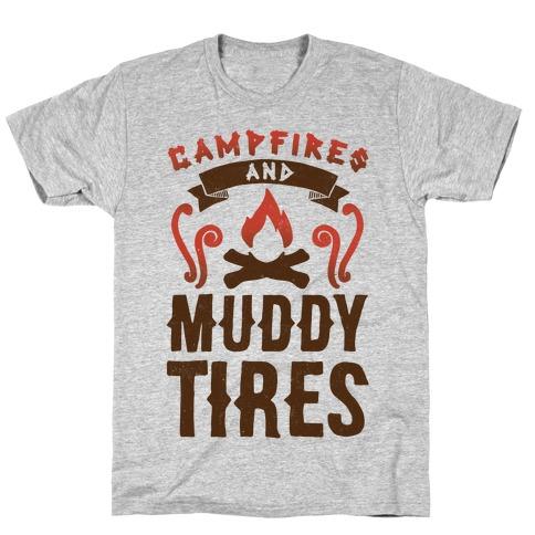 Campfires And Muddy Tires Mens T-Shirt