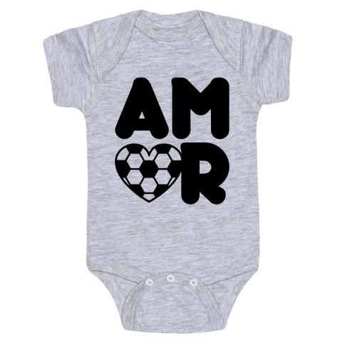 Soccer Amor Baby Onesy
