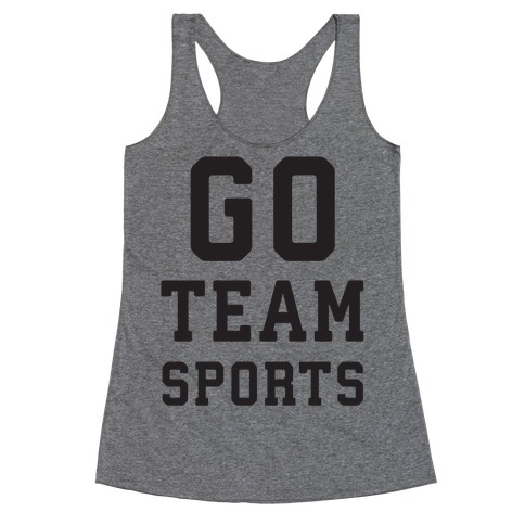 Go Team Sports Racerback Tank Top
