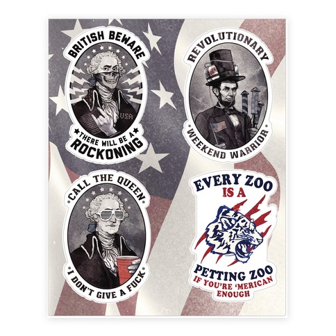 Rebel Presidents Sticker and Decal Sheet