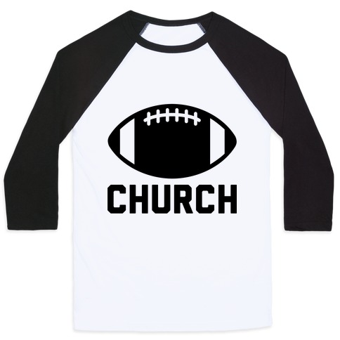 Football Church Baseball Tee