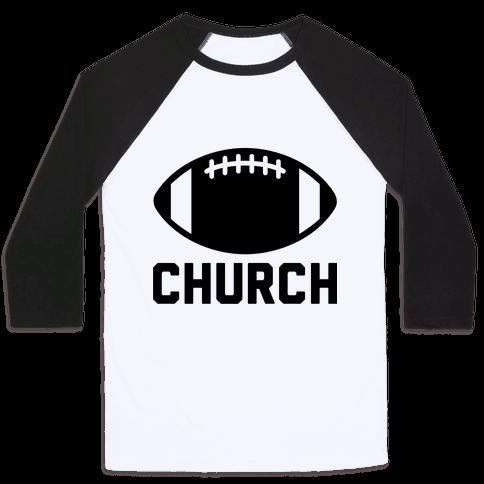Football Church Baseball Tee