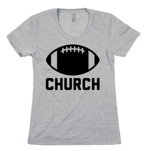 Football Church Womens T-Shirt